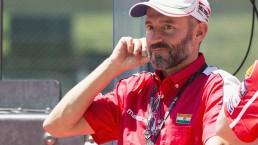 Max Biaggi scende in pista e prova un'auto di Formula E a Roma