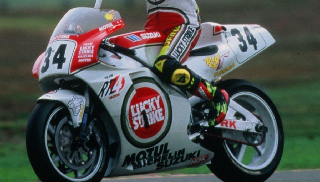 La Suzuki del campione Kevin Schwantz