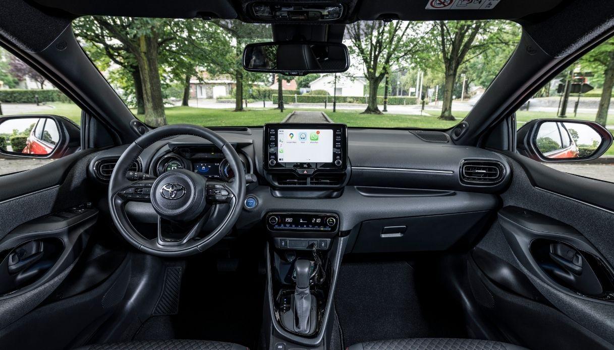 Gli interni della nuova Toyota Yaris