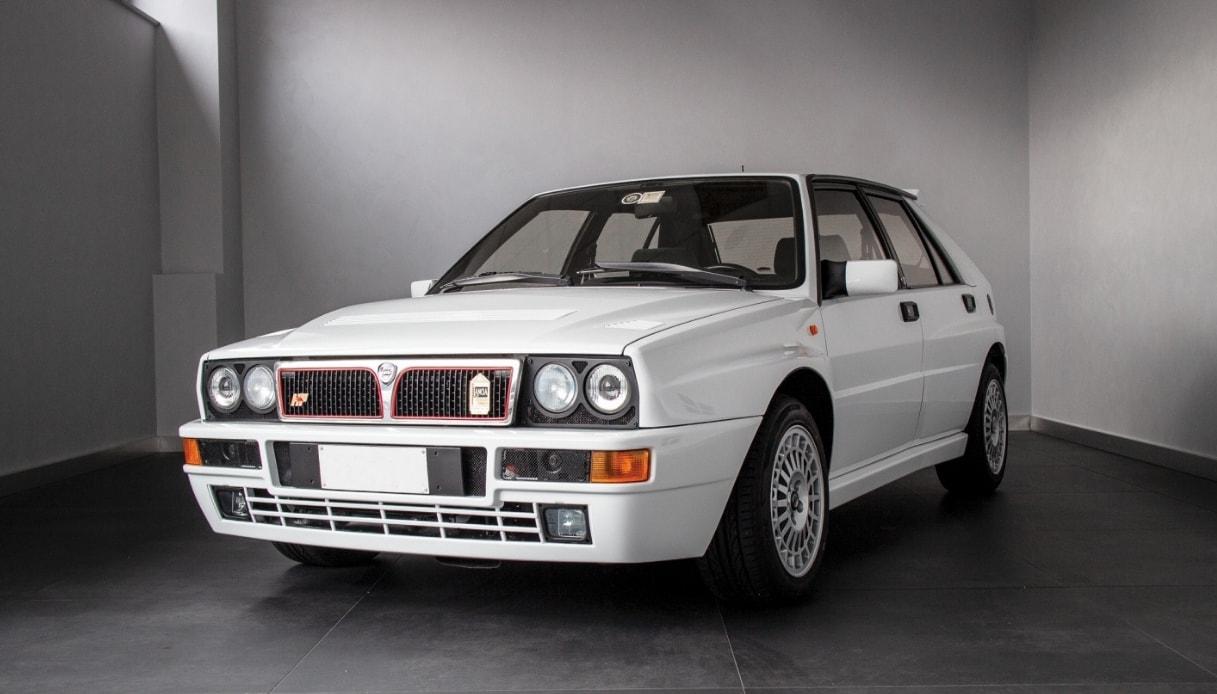 Un modello di Lancia Delta Integrale Evoluzione del 1991