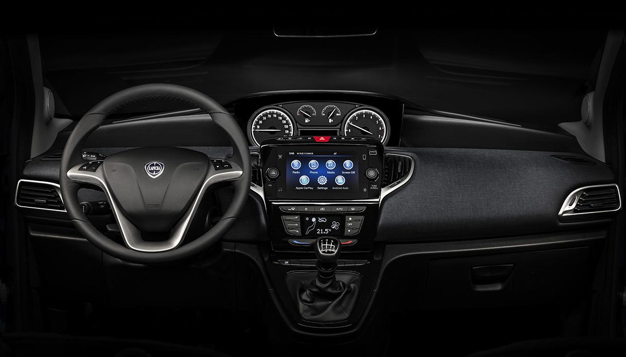 L'abitacolo della nuova Lancia Ypsilon 2021