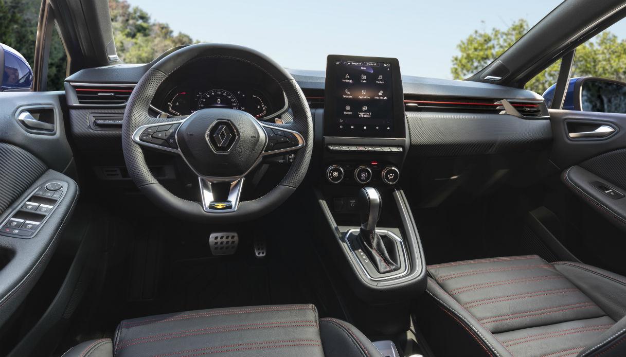 Gli interni di Renault Clio