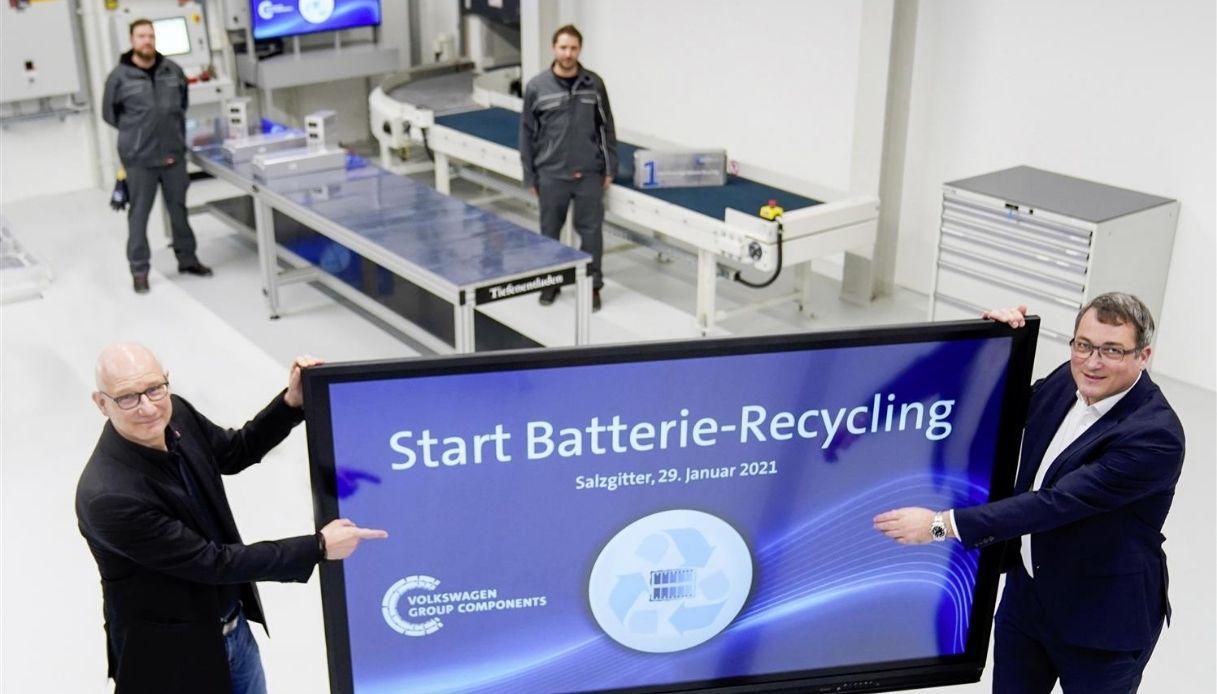 Riciclo batterie Volkswagen, primo impianto
