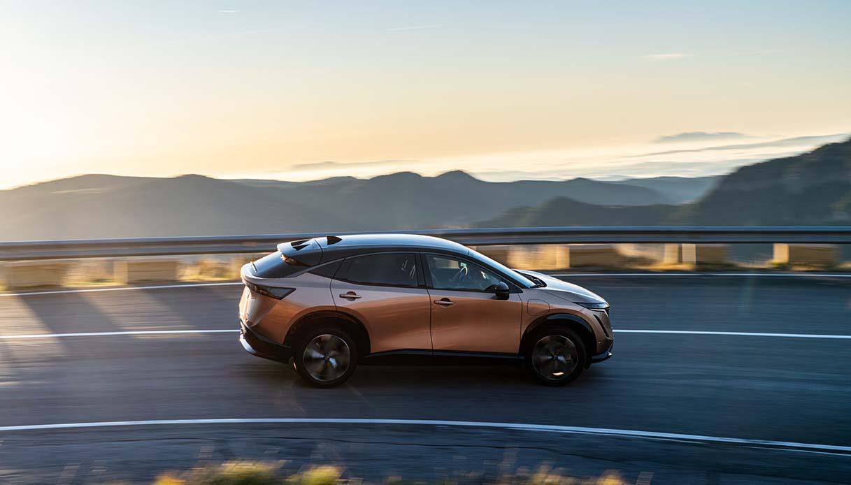 Il crossover più aerodinamico di sempre è Nissan Ariya 2021