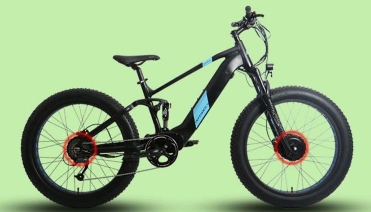 La prima bici elettrica a trazione integrale