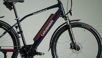 La nuove e-bike in dotazione all'Arma dei Carabinieri