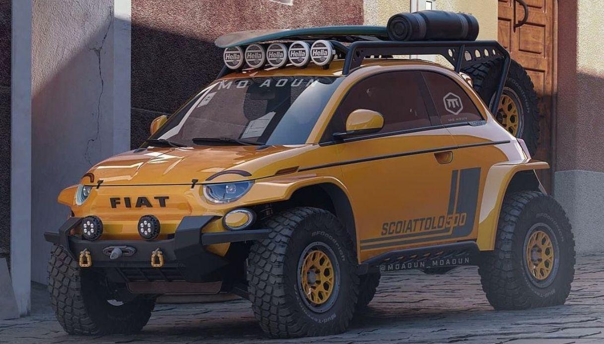 Fiat 500 scoiattolo render di moaoun_moaoun