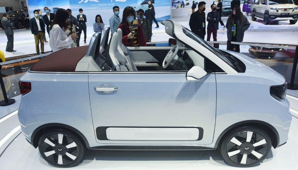 Hogguang Mini EV, la versione cabrio al Salone di Shanghai