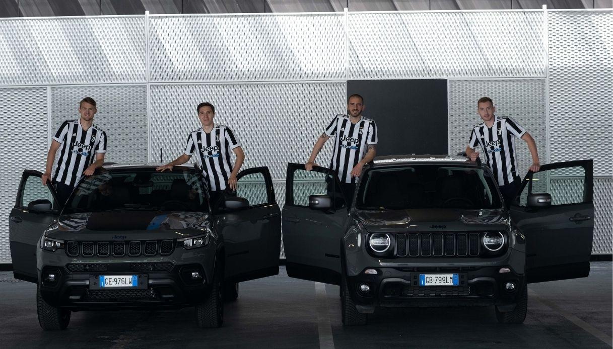 Jeep e Juventus ancora insieme, le maglie della squadra