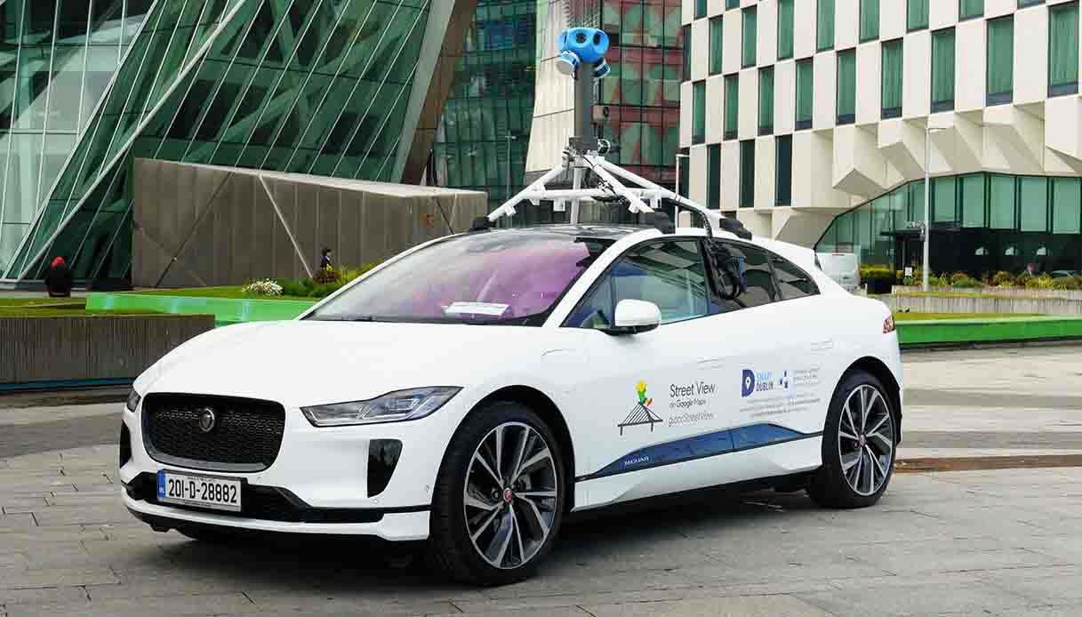 Google e Jaguar I-Pace per la qualità dell'aria di Dublino