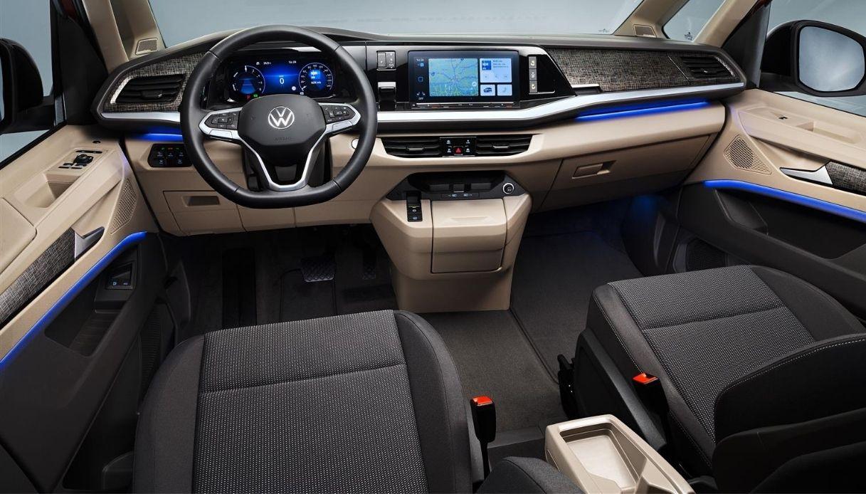 Gli interni del nuovo Volkswagen Multivan