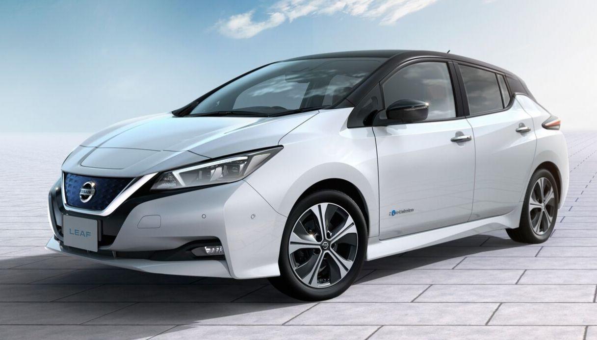 L'utilitaria Nissan Leaf 100% elettrica 2021
