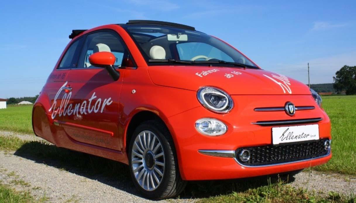 La Fiat 500 a tre ruote