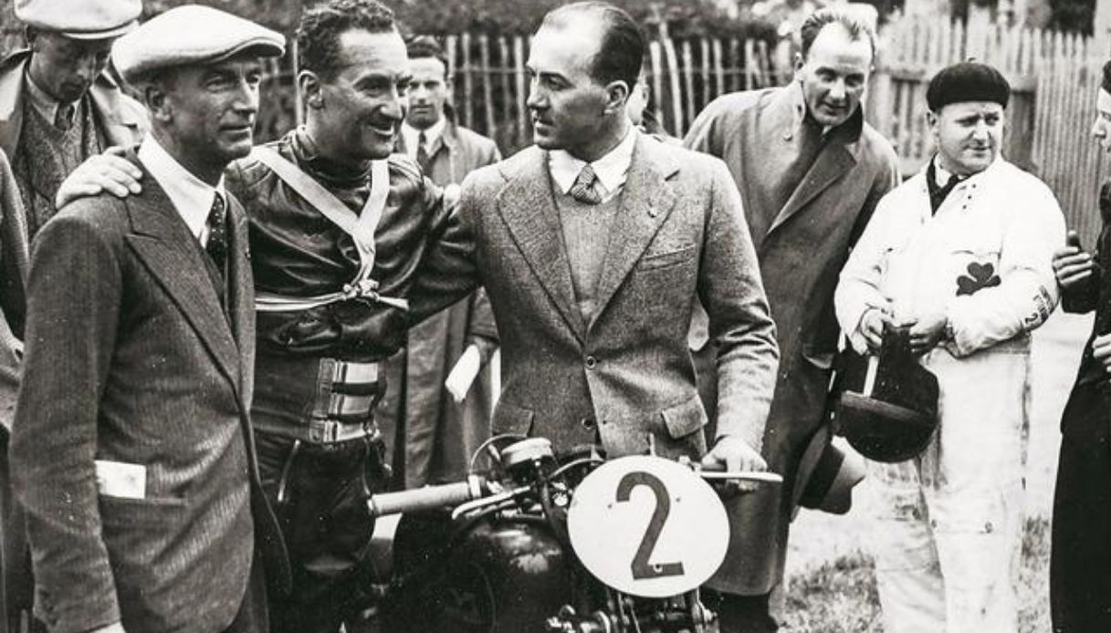 Carlo Guzzi e Parodi insieme a Stanley Woods