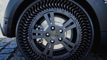 Prova su strada per gli pneumatici senza aria di Michelin