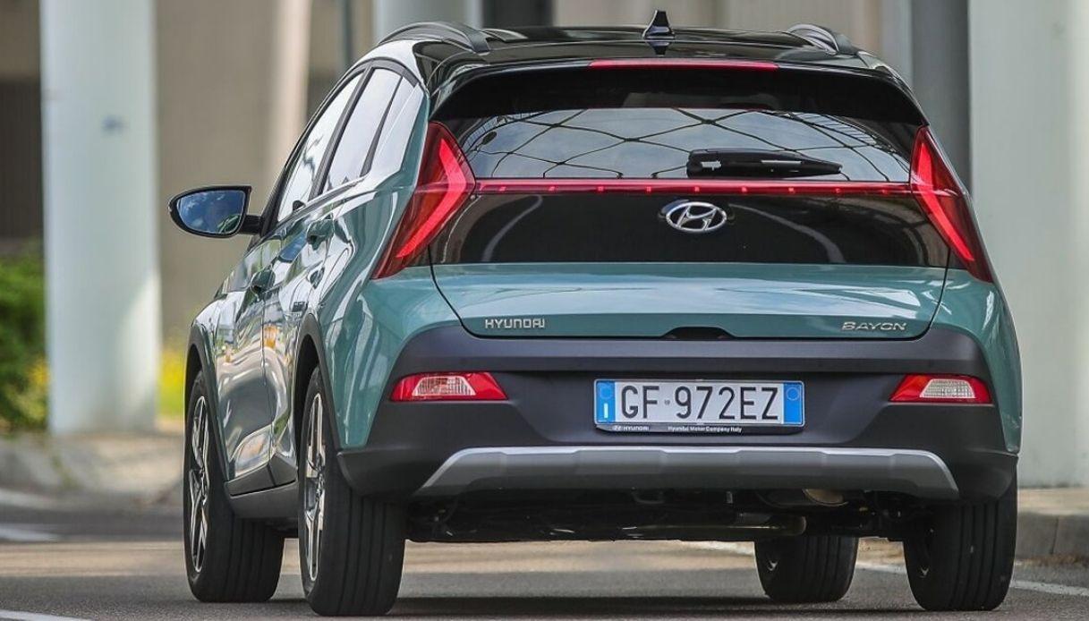 Hyundai Bayon, vista posteriore