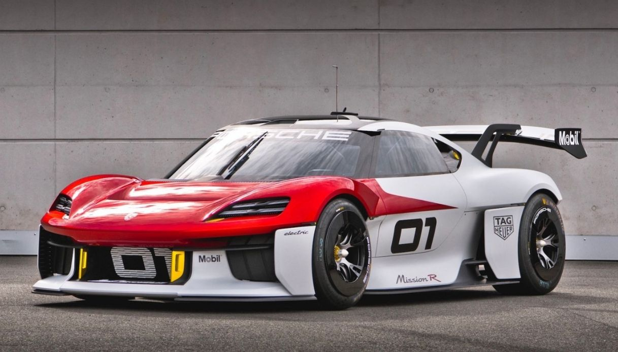 Porsche Mission R, l'auto elettrica da corsa