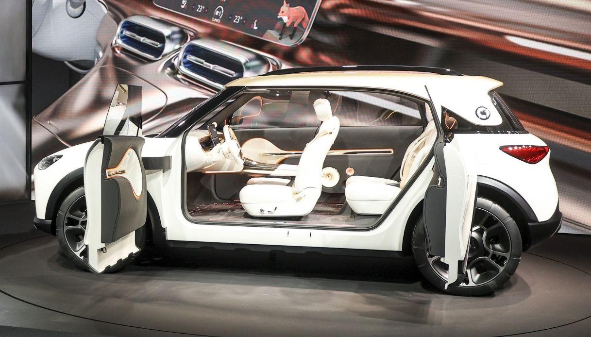 Visuale interna del nuovo SUV Smart