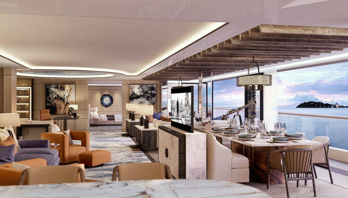 Gli interni lusso del super yacht Somnio