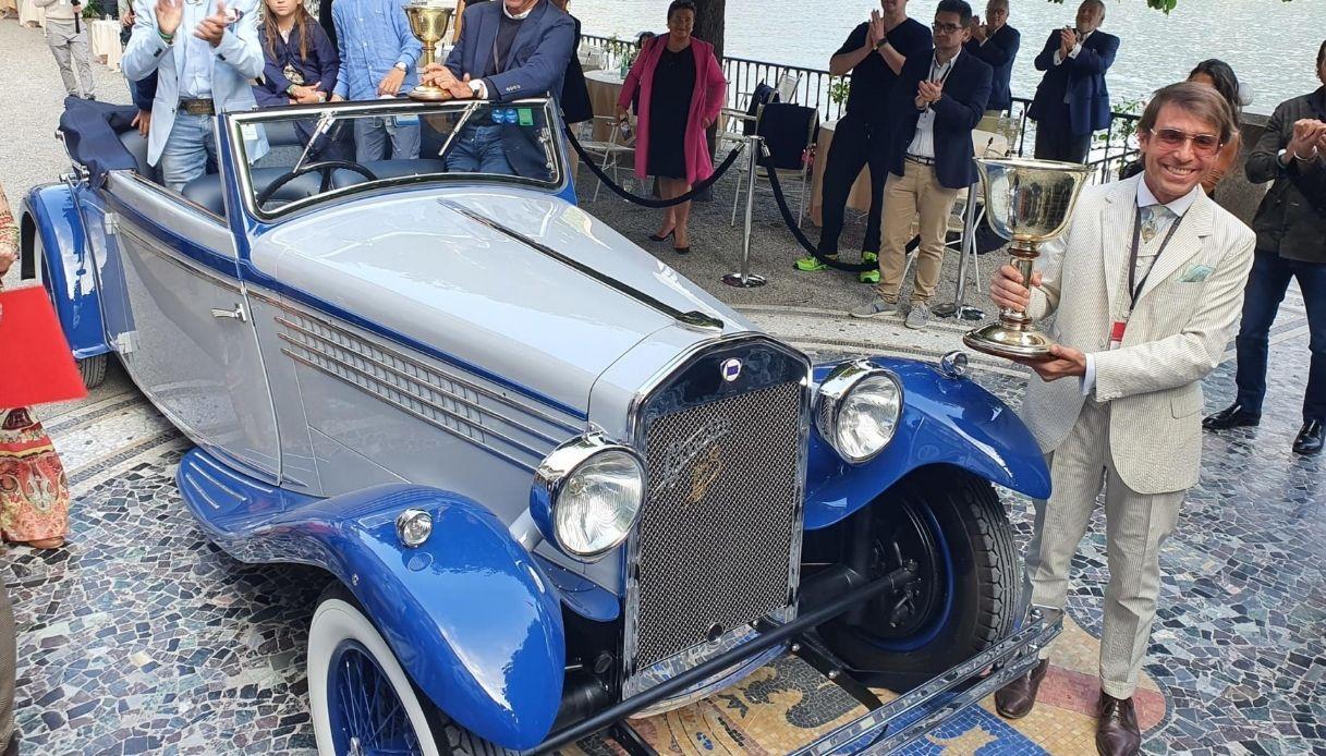 Coppa d'Oro per Lancia Dilambda del 1930 a Villa d'Este